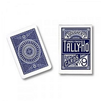 Cartes de Poker Tally-Ho N°9 circle : Bleu