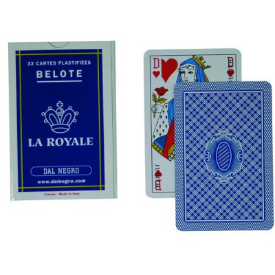 Jeu de 32 cartes La royale : Belote