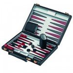 Mallette Backgammon : Grand modèle noir