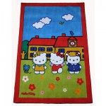 Tapis Hello Kitty : A l'école