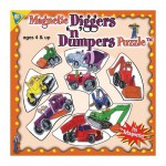 Mini Magnet Jigsaw Puzzle - Construction Machines