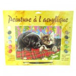 Peinture au numro Dbutants : Comme chient et chat