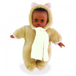 Poupon Petit Clin 28 cm Nounours Mtis : Echarpe beige