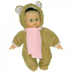 Poupon Petit Clin blanc 28 cm Nounours : Marron