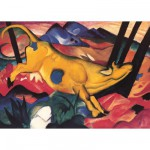 Puzzle 100 pices - Franz Marc : La vache jaune