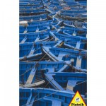 Puzzle 1000 pices - Bateaux bleus