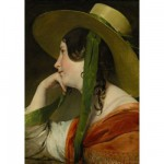 Puzzle 1000 pices - Friedrich Von Amerling : La fille au chapeau de paille