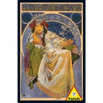 Puzzle 1000 pices - Mucha : Jacinthes