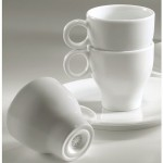 Soucoupe pour tasse  caf moka 9 cl - Porcelaine : Louna 