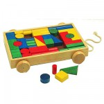 Chariot de cubes en bois Grand modle