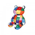 Figurine Elmer : Ourson Elmer couleur