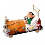 Figurine Gaston Lagaffe Collectoys : Lit voiture