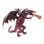 Figurine Grand dragon volant et cavalier