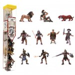 Figurine Les gladiateurs : Tubo de 11 figurines