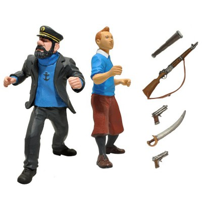Figurine Tintin : Action set Tintin et Capitaine Haddock