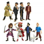 Figurines Tintin : Tubo 9 figurines
