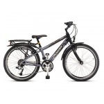Bicyclette / Vlo Crusader 24-24 alu : Gris / Noir
