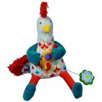 Peluche Peace & Love, la Happy farm : Bob le coq musical