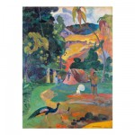 Puzzle d'art en bois 150 pices Michle Wilson - Gauguin : Paysage au paon