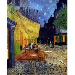 Puzzle d'art en bois 250 pices Michle Wilson - Van Gogh : Le caf le soir