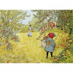 Puzzle d'art en bois 350 pices Michle Wilson - Larson : La cueillette des pommes