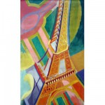 Puzzle d'art en bois 40 pices Michle Wilson - Delaunay : Tour Eiffel