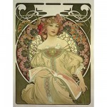 Puzzle d'art en bois 500 pices Michle Wilson - Mucha : Rverie
