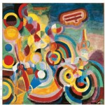 Puzzle d'art en bois 80 pices Michle Wilson - Delaunay : Hommage  Blriot