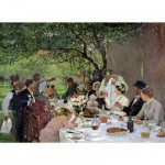 Puzzle d'art en bois 1000 pices Michle Wilson - Fourie : Repas de noces  Yport