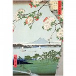 Puzzle d'art en bois 150 pices Michle Wilson - Hiroshige : Pommiers en fleurs