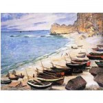 Puzzle d'art en bois 1500 pices Michle Wilson - Monet : Etretat