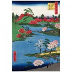 Puzzle d'art en bois 250 pices Michle Wilson - Hiroshige : Le long de la Riviere