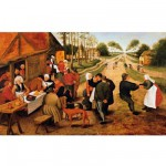 Puzzle d'art en bois 350 pices Michle Wilson - Bruegel : Kermesse de village