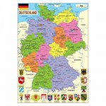 Puzzle d'art en bois 50 pices Michle Wilson : Carte de l'Allemagne