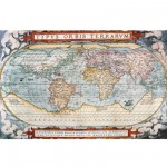 Puzzle d'art en bois 5000 pices Michle Wilson - Carte du monde : La thtre du monde