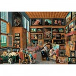 Puzzle d'art en bois 650 pices Michle Wilson - Jordaens : Galerie d'art