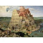 Puzzle d'art en bois 80 pices Michle Wilson  -  Brueghel : La Tour de Babel