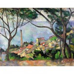 Puzzle d'art en bois 80 pices Michle Wilson -  Czanne : Vue de l'Estaque