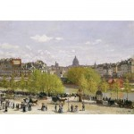 Puzzle d'art en bois 80 pices Michle Wilson - Monet : Quai du Louvres Paris