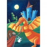 Puzzle en bois - Art maxi 12 pices - Cardouat : Le dragon