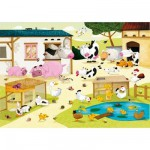 Puzzle en bois - Art maxi 12 pices - Huette : La ferme