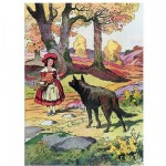 Puzzle en bois - Art Maxi 24 pices - Fable : Le petit chaperon rouge