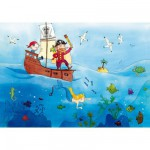 Puzzle en bois - Art maxi 24 pices - Vanvolsem : Les pirates