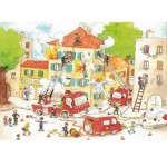 Puzzle en bois - Art maxi 50 pices - Cacouault : Les Pompiers