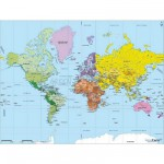 Puzzle en bois - Art Maxi 50 pices - Gographie : Carte du monde