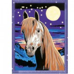 Peinture au numro Classic : Cheval au clair de lune