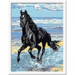 Peinture au numro Classic : Cheval au galop Version allemande