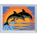 Peinture au numro Numro d'Art Classic : Dauphins romantiques Version allemande