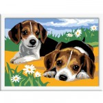 Peinture au numro Classic : Jack Russel Version allemande