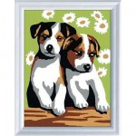 Peinture au numro Classic : Les chiots Version allemande